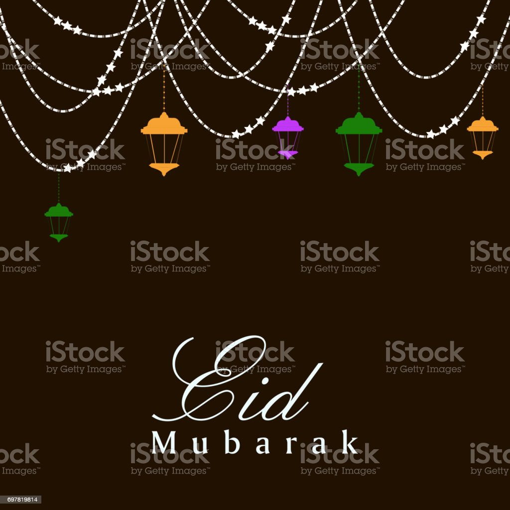 Illustration of elements for the occasion of Eid Background vector art illustration