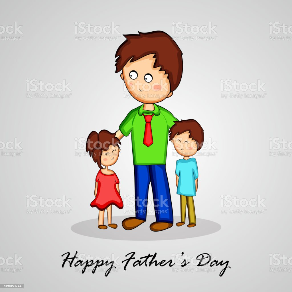 illustration of elements of Fathers day background - Векторная графика Абстрактный роялти-фри