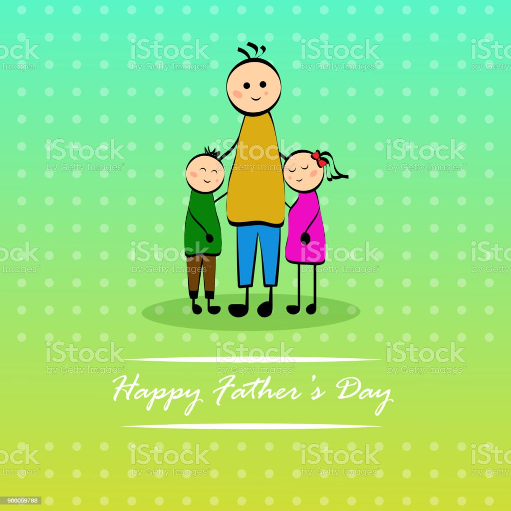 illustration of elements of Fathers day background - Royalty-free Abstract stock vector