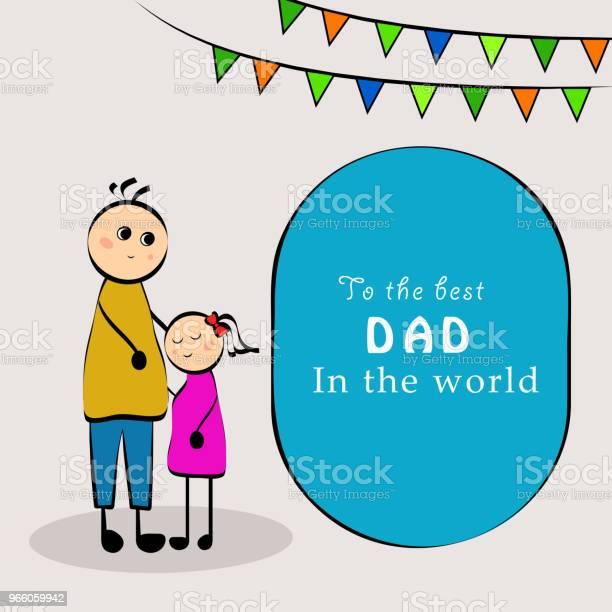 Illustration Av Delar Av Fäder Dag Bakgrund-vektorgrafik och fler bilder på Abstrakt