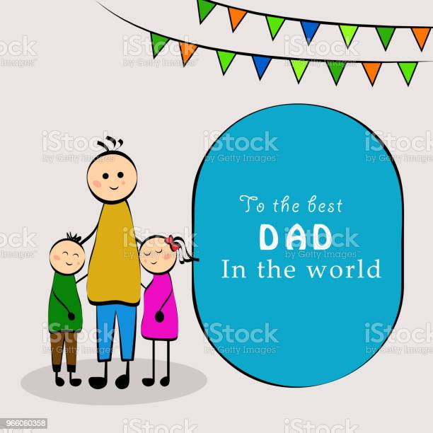 Illustration Of Elements Of Fathers Day Background Stock Illustration - Download Image Now