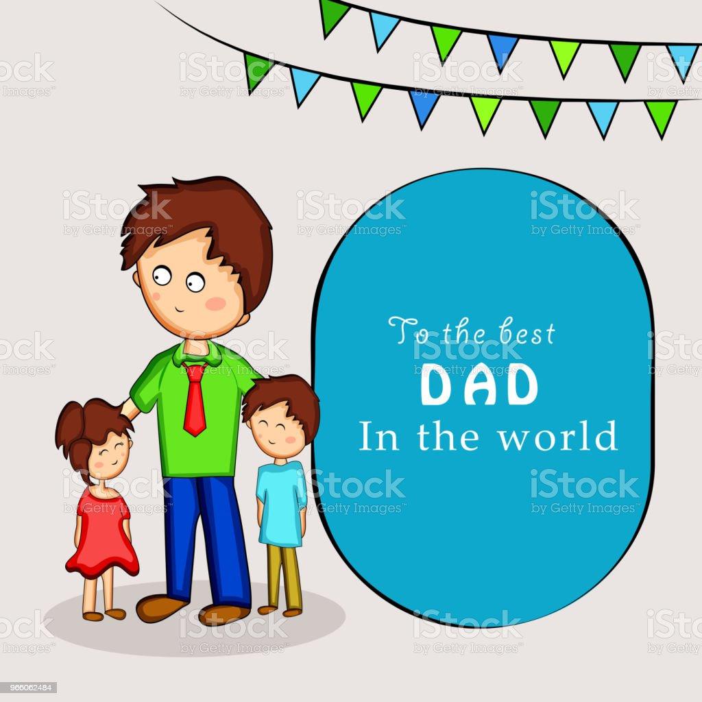 Darstellung der Elemente der Väter Tag Hintergrund - Lizenzfrei Abstrakt Vektorgrafik