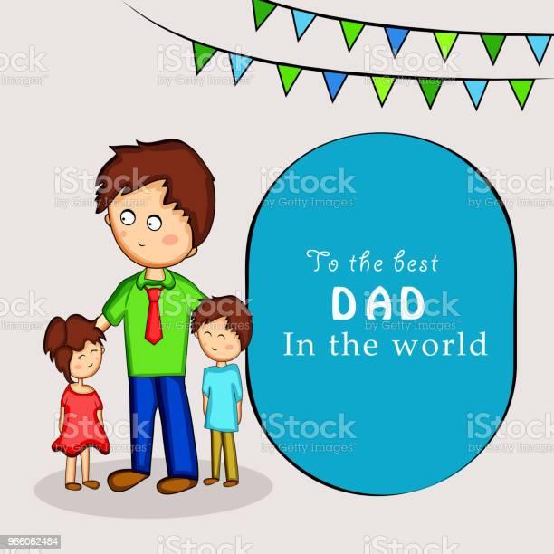 Darstellung Der Elemente Der Väter Tag Hintergrund Stock Vektor Art und mehr Bilder von Abstrakt
