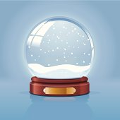 Snow globe illustration. Layered and grouped. Download includes EPS 10 and hi-res jpeg files.