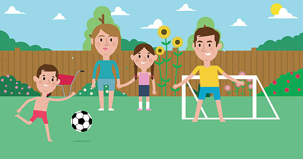 Family Playing Together Clipart Royalty Free Il...