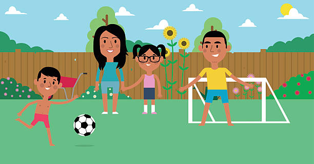 Family Playing Together Clipart Hispanic Family...