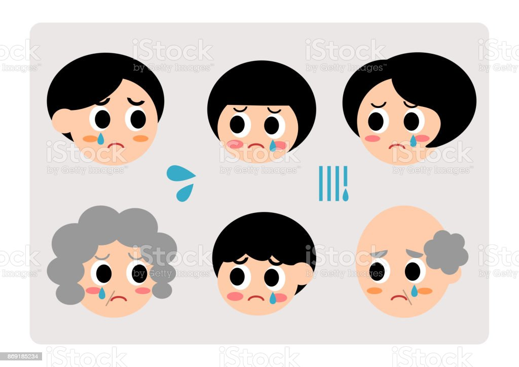 Illustration of family(sad,weep) vector art illustration
