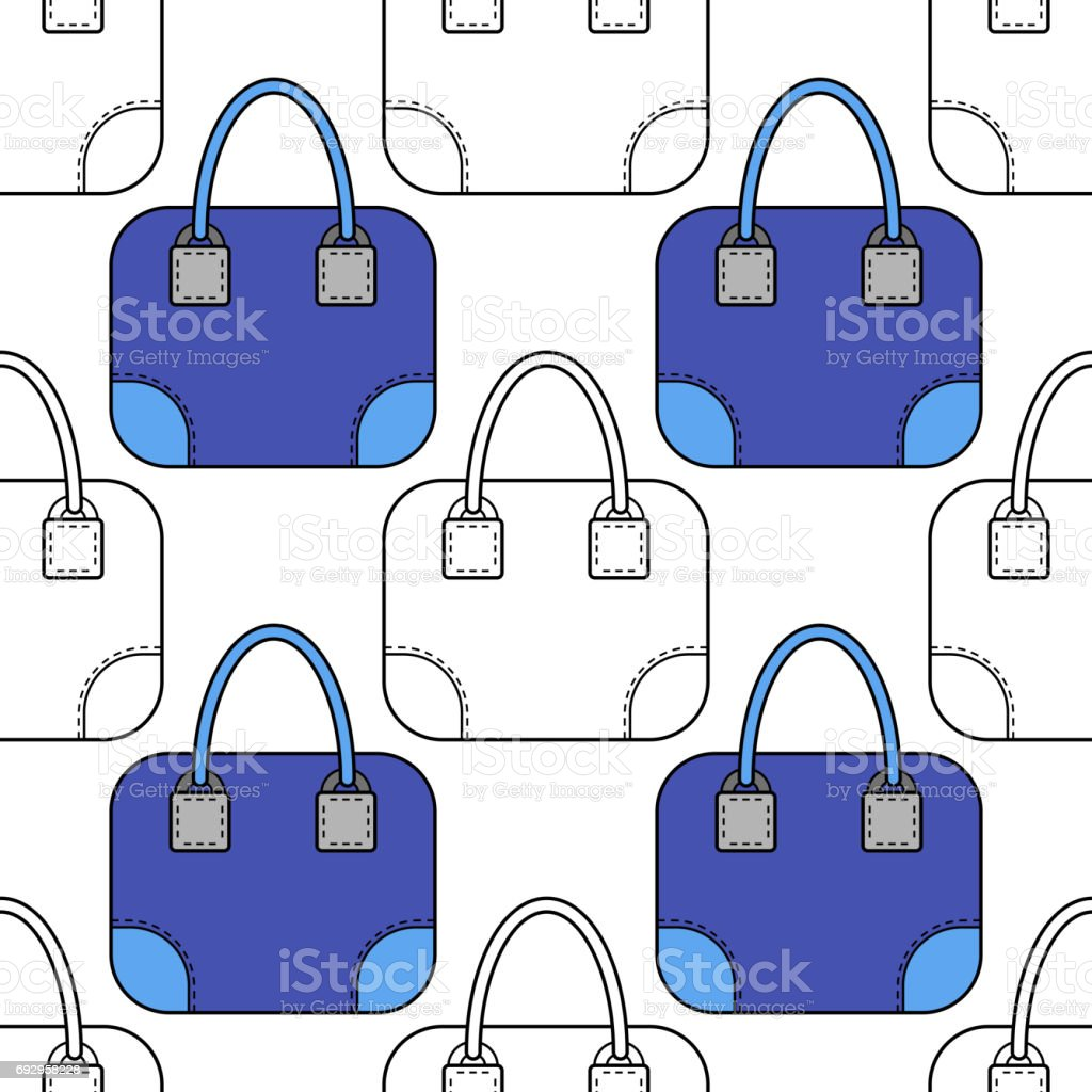 Coloring book bag - Illustration Of Fashion Bags For Coloring Book Page Royalty Free Stock Vector Art