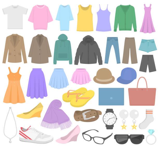 ファッション ・ アイコンのイラスト。 - ダウンジャケット点のイラスト素材/クリップアート素材/マンガ素材/アイコン素材