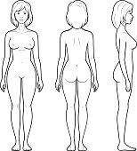 Illustration of female figure