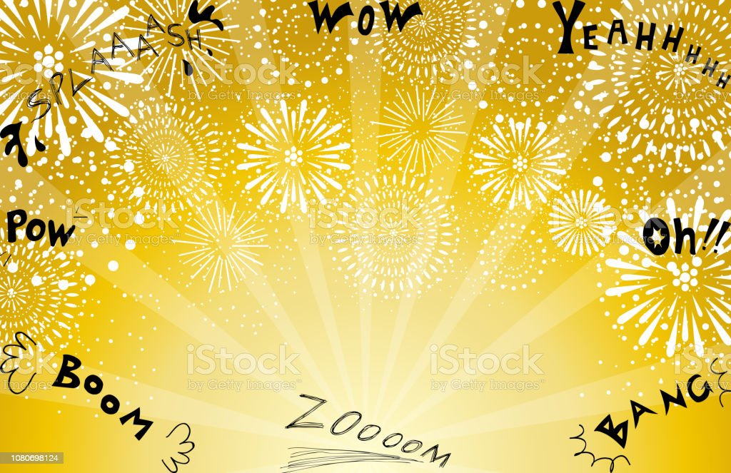 Illustration of fireworks vector art illustration