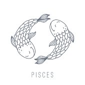 Illustration of fishes (Pisces)