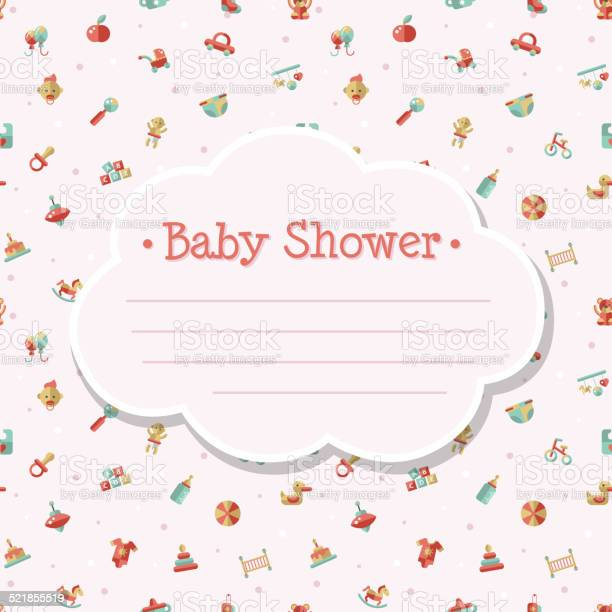 Illustration of flat design cute baby shower template vector id521855519?b=1&k=6&m=521855519&s=612x612&h=l664hfuzkpj1 xsov81jiukjbk7iq oczrqfsvt0x2g=