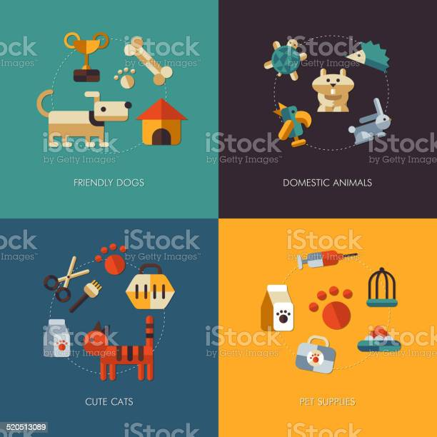 Illustration of flat design pets compositions vector id520513089?b=1&k=6&m=520513089&s=612x612&h=6 dscz1yrmpdunnw0zzk0anoaolebj7fyq4qicaiwmo=