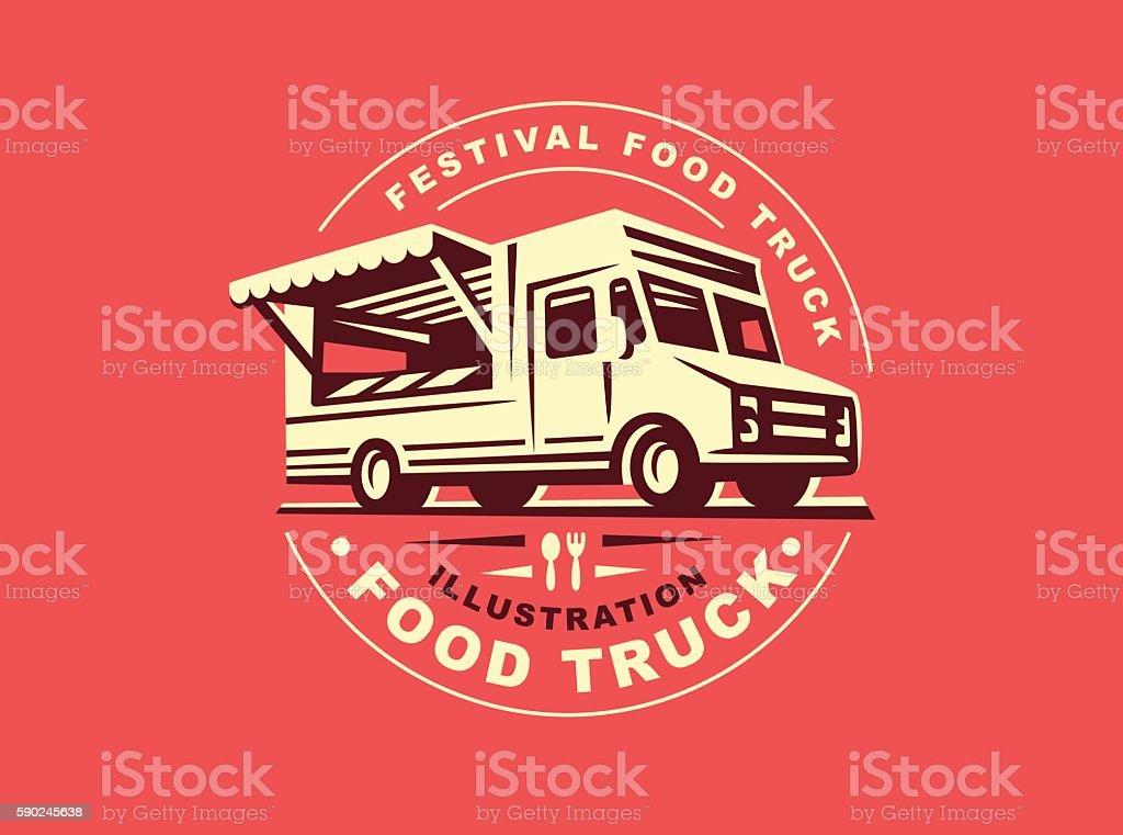 Illustration of food truck vector art illustration