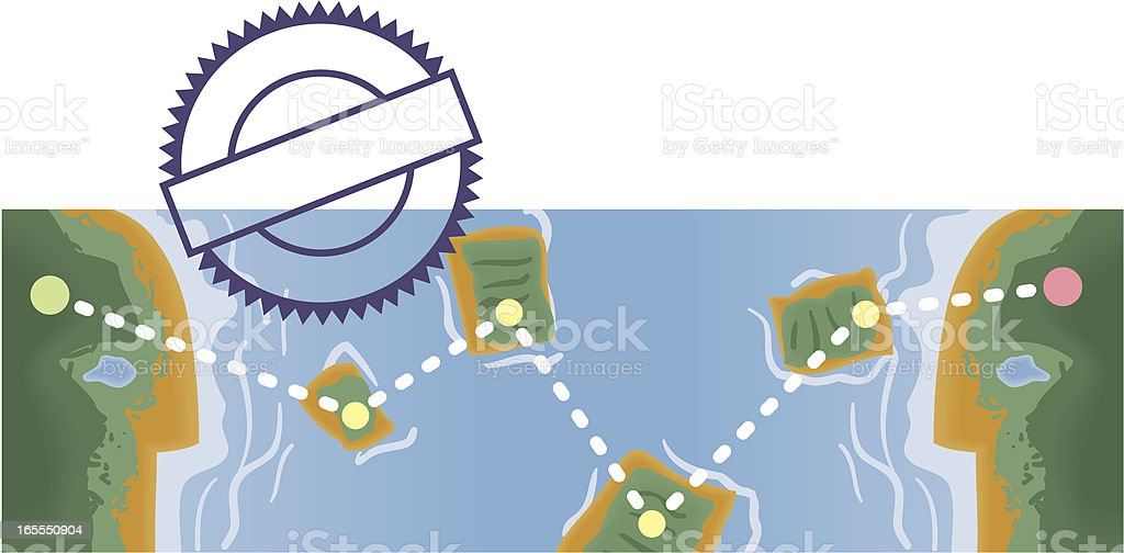 Illustration of global communications with dotted lines royalty-free illustration of global communications with dotted lines stock vector art & more images of agreement