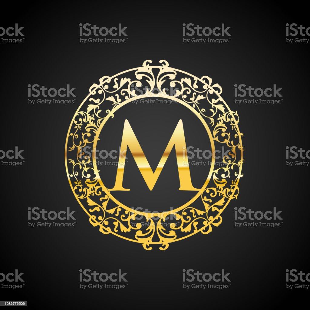 Illustration Of Gold Luxury Logo Design Stock Illustration Download Image Now Istock