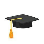 illustration of graduation cap.