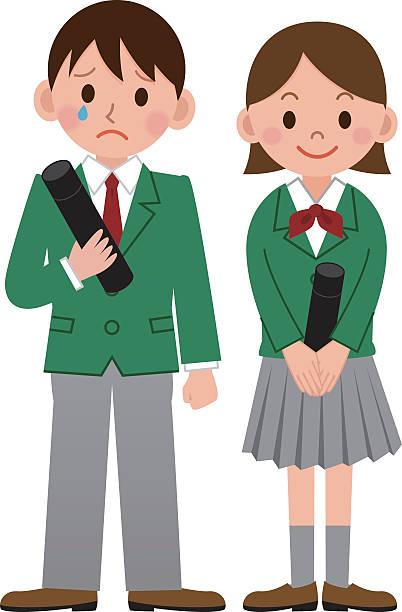 Illustration of Graduation ceremony vector art illustration