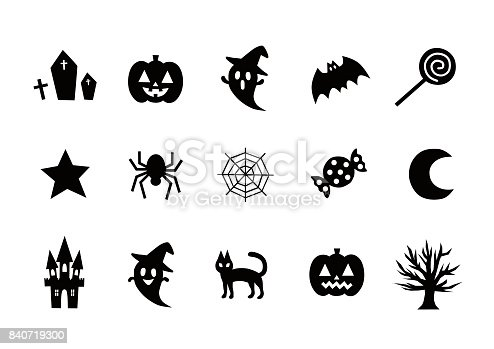 istock Illustration of Halloween(icon) 840719300