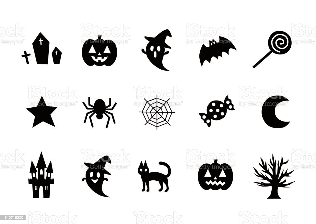 Illustration of Halloween(icon) vector art illustration