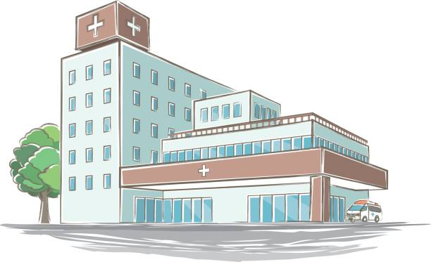 手書き風病院のイラスト - 病院点のイラスト素材/クリップアート素材/マンガ素材/アイコン素材