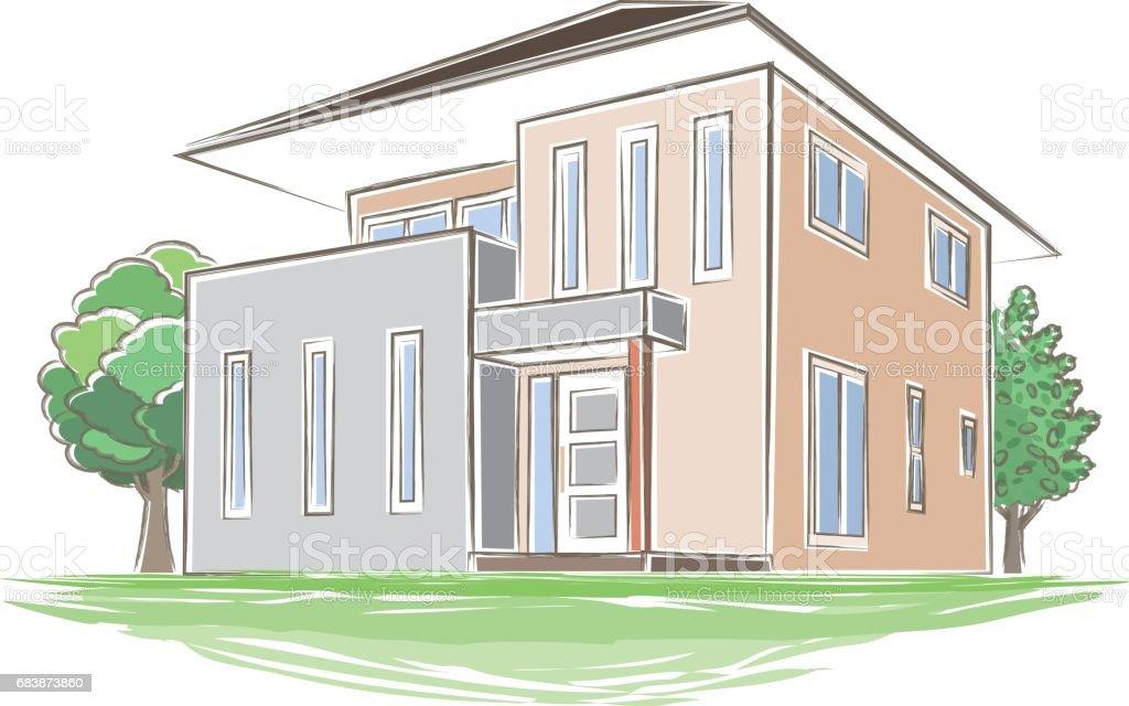 手書き風の家のイラスト 3dのベクターアート素材や画像を多数ご用意 Istock