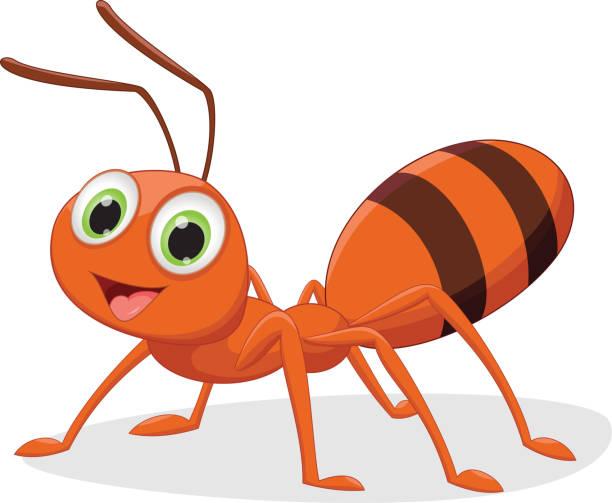 illustration of happy ant cartoon vector art illustration