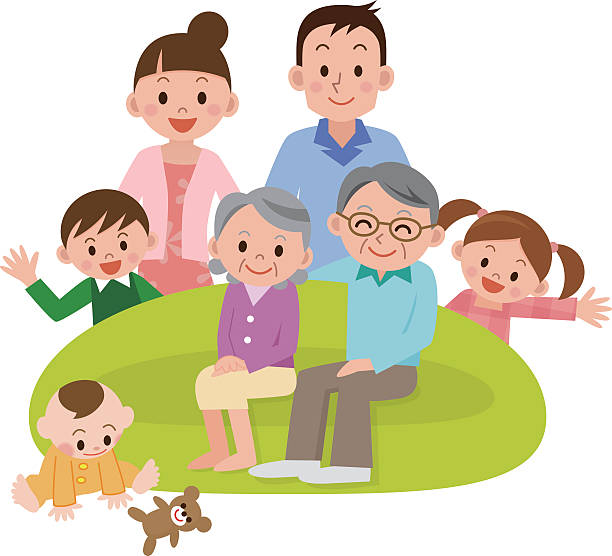 illustration of happy family - 家族 日本点のイラスト素材/クリップアート素材/マンガ素材/アイコン素材