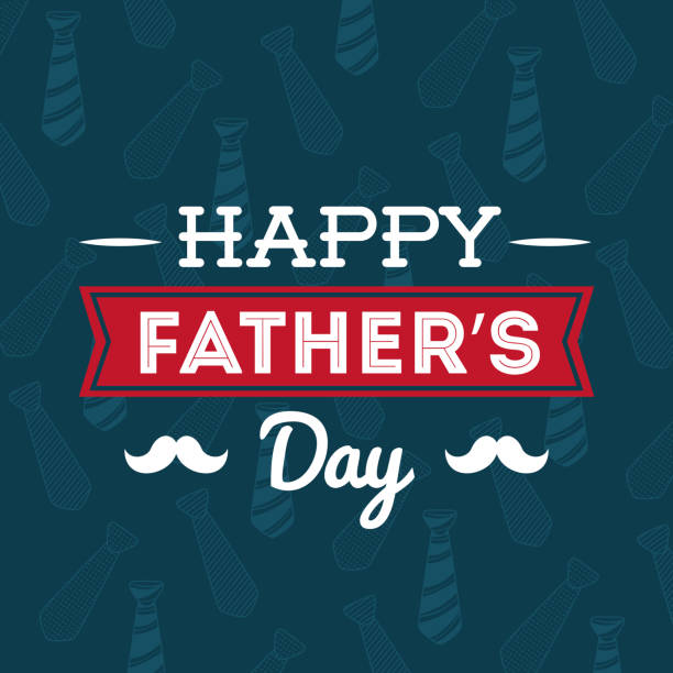illustration of happy fathers day - fathers day stock illustrations, clip art, cartoons, & icons