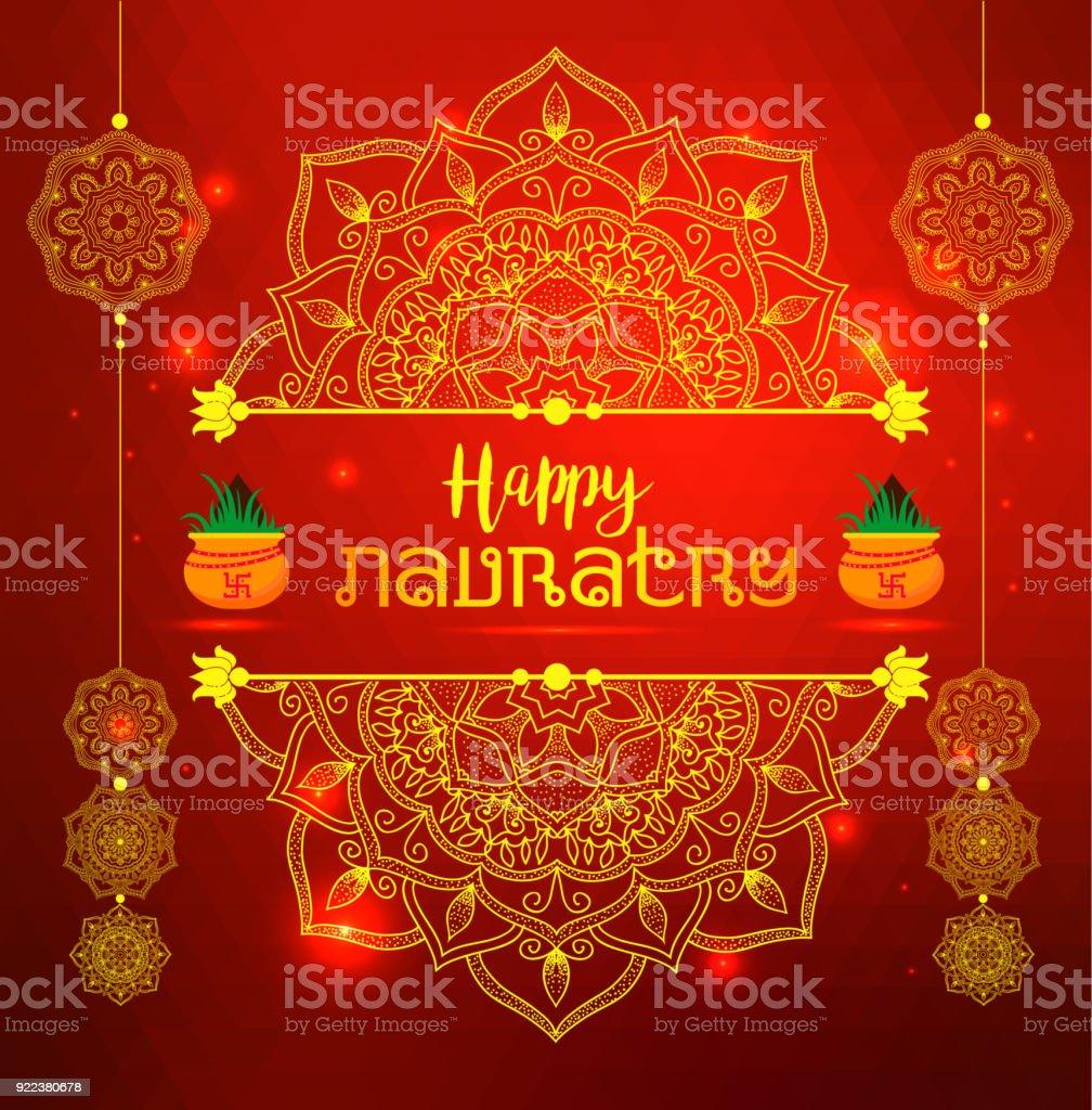 Illustration Of Happy Navratri Celebration Poster Greetings Banner