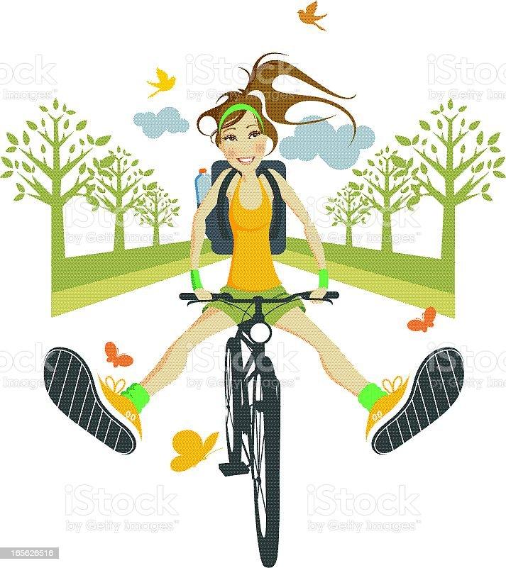 Jazdy na rowerze. - Grafika wektorowa royalty-free (Adolescencja)