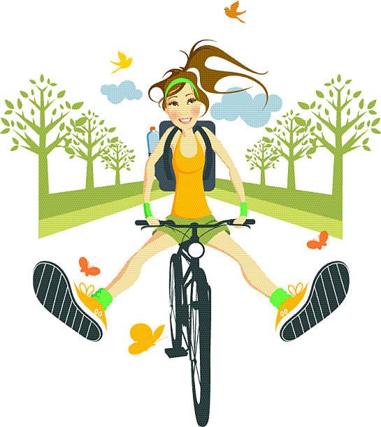 Jazdy na rowerze. – artystyczna grafika wektorowa