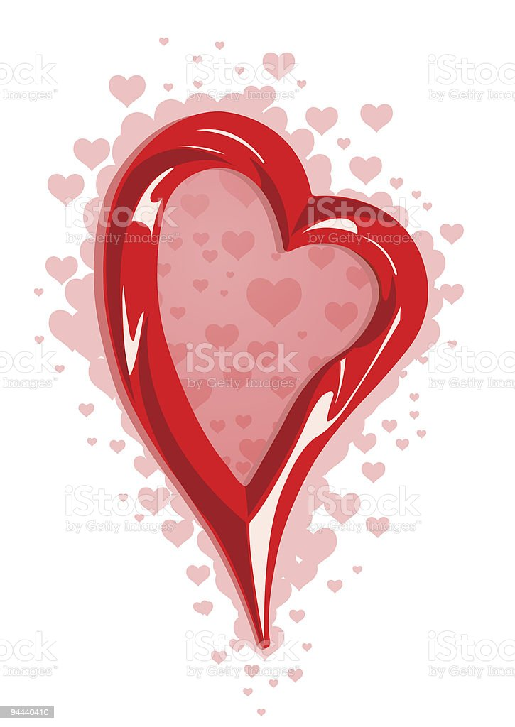 Illustration of heart frame royalty-free illustration of heart frame stock vector art & more images of abstract