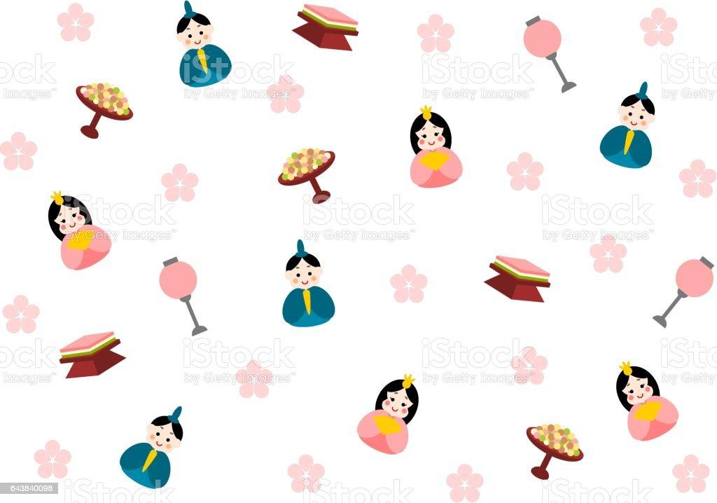 Ilustración de Hinamatsuri (Festival de la muñeca) - ilustración de arte vectorial