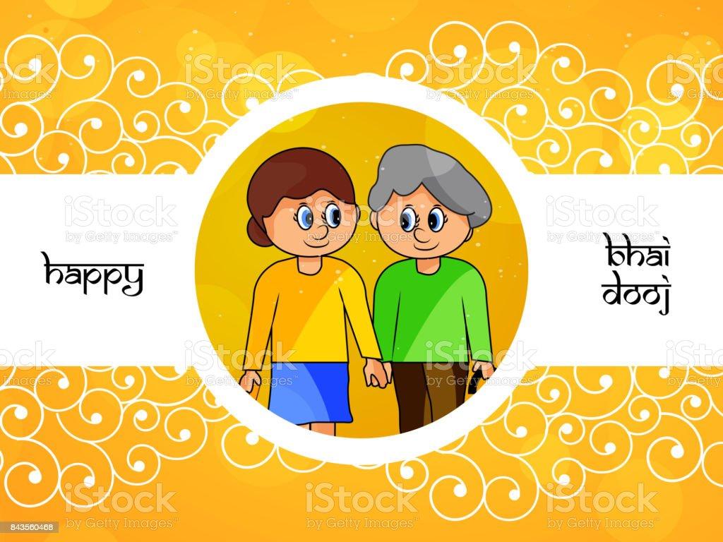 Illustration Of Hindu Festival Bhai Dooj Background Stock Vector Art