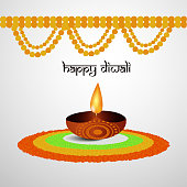 illustration of hindu festival Diwali background
