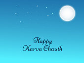 illustration of Hindu Festival Karwa Chauth background