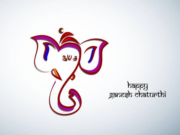 illustration der hinduistische festival ganesh chaturthi hintergrund - ganesh stock-grafiken, -clipart, -cartoons und -symbole