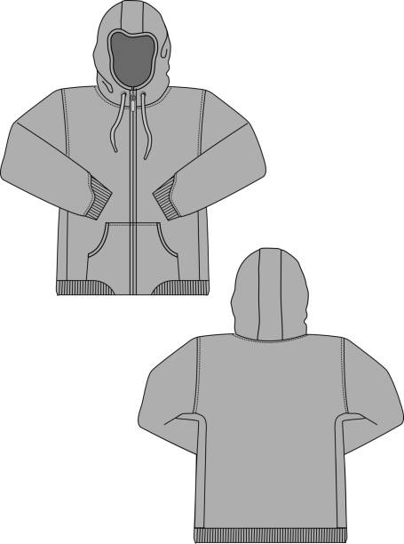 illustration der hoodie (sweatshirt) - parkas stock-grafiken, -clipart, -cartoons und -symbole