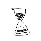 Illustration of hourglass doodle