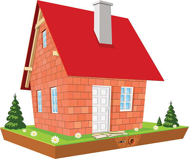 illustration of house - electrical wiring home stock illustrations, clip art, cartoons, & icons