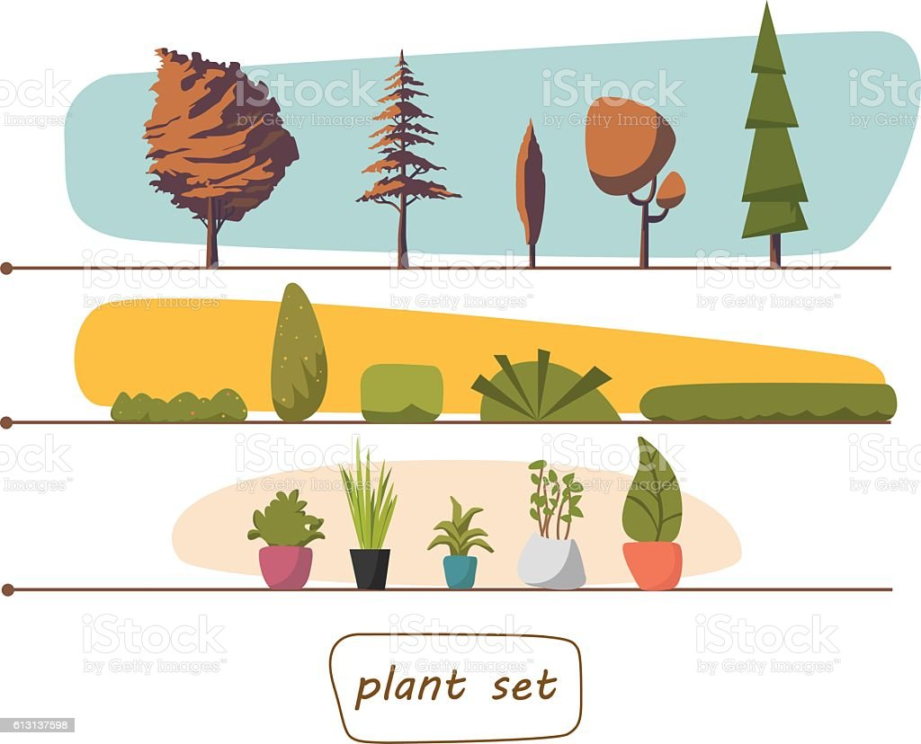 indoor home office plants royalty. Illustration Of Houseplants, Indoor And Office Plants In Pot. Set Royalty-free Stock Home Royalty