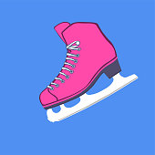 istock Illustration of ice skate for dancing on a colored background 1187803118