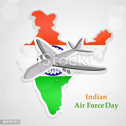 Illustration Of Indian Airforce Day Background Stock Vector Art