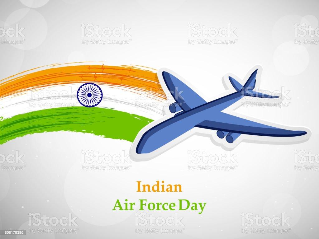 illustration of Indian Airforce Day Background vector art illustration