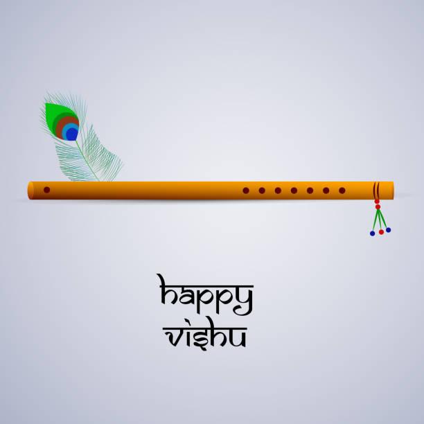 illustration of indian state kerala hindu festival vishu background - happy holidays stock illustrations