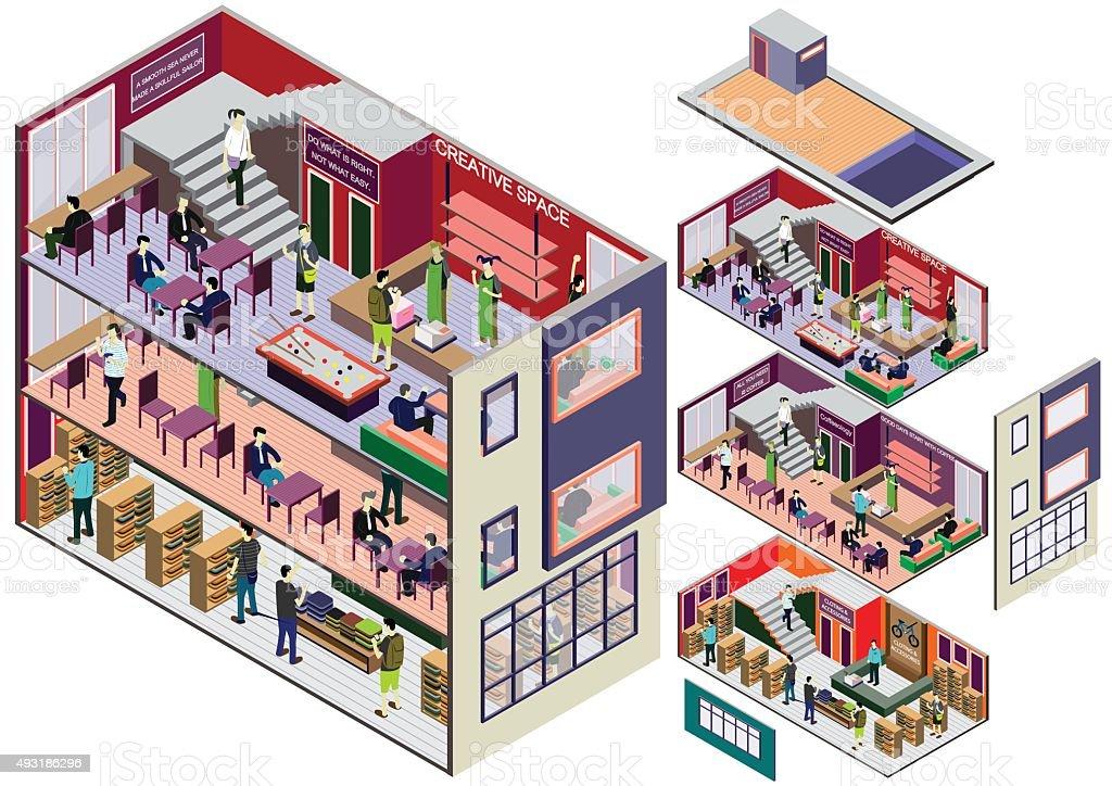 info graphisme illustration de concept de l'intérieur - Illustration vectorielle