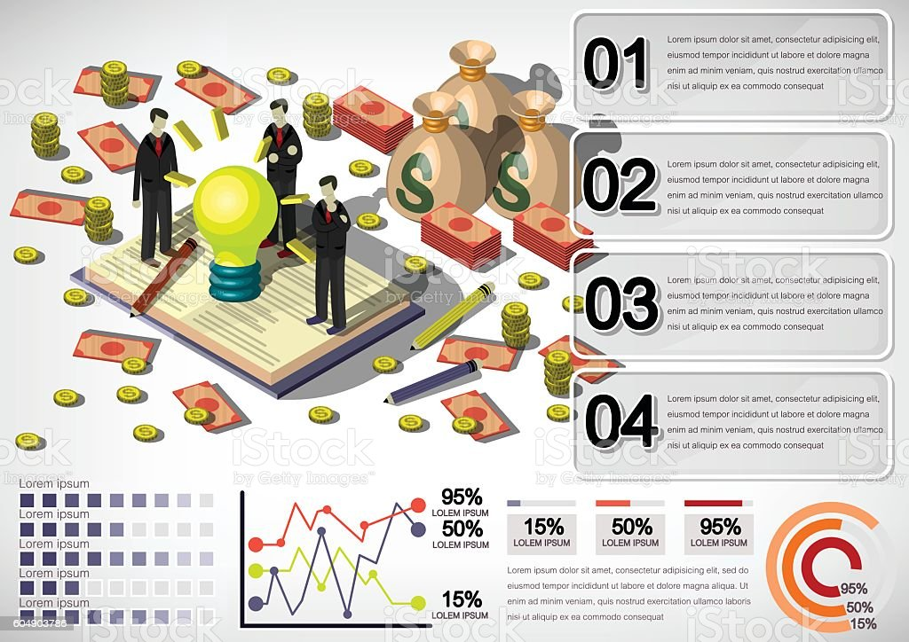 illustration of info graphic money equipment concept vector art illustration