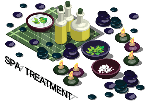 illustration of info graphic spa treatment concept